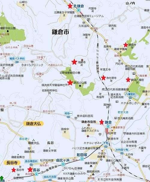 鎌倉紅葉マップ